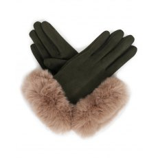 Bettina Faux Suede Gloves Damson/Slate