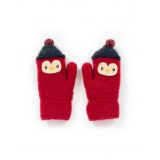 Kids Wolly Penguin Mittens