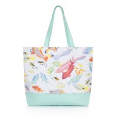 Rose Fulbright Tropical Fish Beach Bag