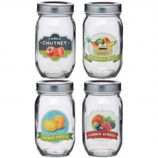 Homemade Glass Assorted Print Jar 1lb
