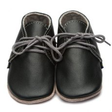 Black Derby Shoes 6-12m