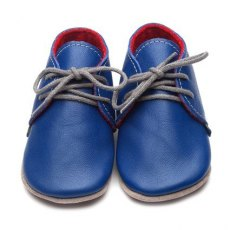 Blue Derby Shoes 6-12m