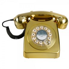 1950's Retro Classic Brass Brushed Phone