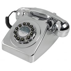 1950's Retro Classic Brushed Chrome Phone