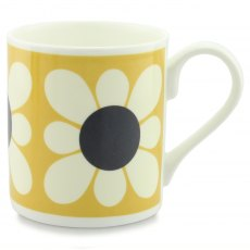 Orla Kiely Square Daisy Flower Yellow Mug