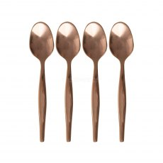 Set of 4 Copper Dipped Tea Spoons