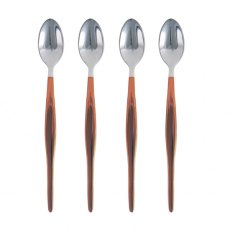 Set of 4 Copper Dipped Latte Spoons