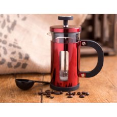 Pisa Cafetiere Red 3 Cup
