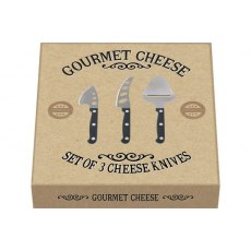 Gourmet Cheese Set Of 3 Cheese Knives