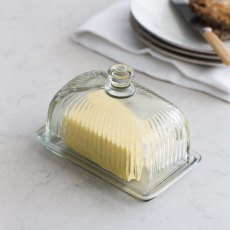 Cornbury Glass Butter Dish