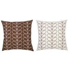 Orla Kiely Cushion Large Linear Stem Chocolate