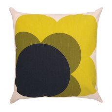 Orla Kiely Single Bigspot Flower Cushion Lemon