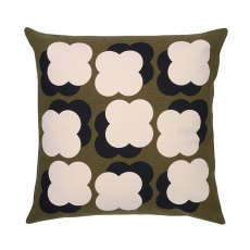 Orla Kiely Shadow Flower Cushion Dark Olive