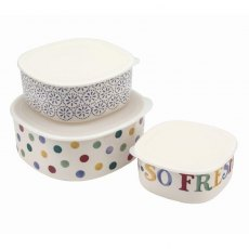 Emma Bridgewater Polka Dot Melamine Set of 3 Storage Containers