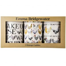 Emma Bridgewater Hen & Toast Set of 3 Caddies