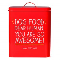 'Awesome' Large Dog Food Tin
