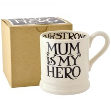 Emma Bridgewater Black Toast Mum Is My Hero 1/2pt Mug