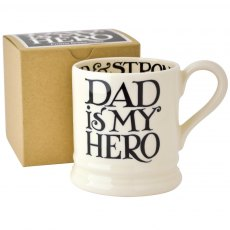 Emma Bridgewater 'Fathers Day' Black Toast 1/2pt M