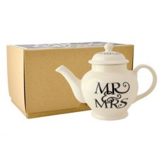 Black Toast Mr & Mrs 2 Cup Teapot