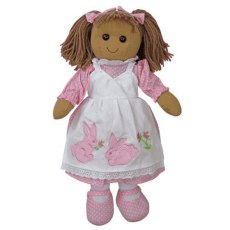 Rag Doll with Rabbit Dress 40cm