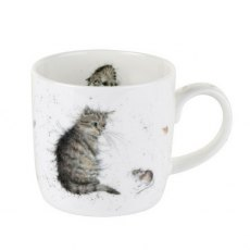 Royal Worcester Wrendale Cat and Mouse Fine Bone China Mug