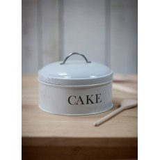 Steel Round Cake Tin in Chalk