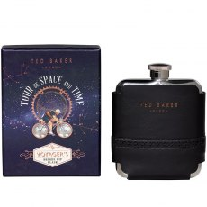 Ted Baker Black Brogue Hip Flask