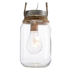 LED Light Bulb in a Jar