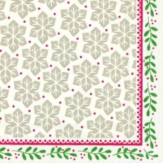 Greta Red Green Lunch Napkins