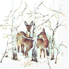 In The Winter Forest Lunch Napkins