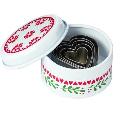 Festive Tin With Cookie Cutters