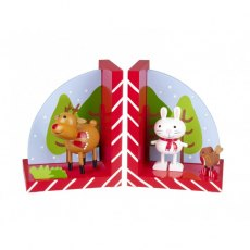 Reindeer & Robin Bookends