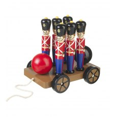 Wooden Soldier Skittles On Wheels