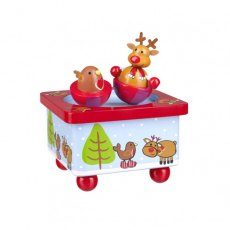 Reindeer & Robin Music Box
