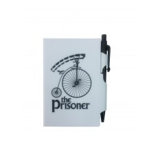 The Prisoner Retro Notepad & Pen White