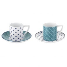Ted Baker Espresso Cup & Saucer S/2 - Ancona II