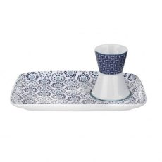 Ted Baker Egg Cup & Snack Plate - Blanchard Blue