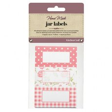 Jar Labels 30pc Roses