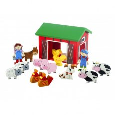 Farm Yard Wooden Playset
