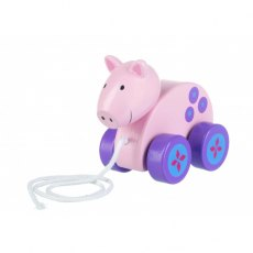 Pig Wooden Pull Along
