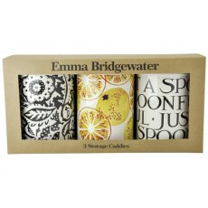 Emma Bridgewater Black Toast Marmalade Set of 3 Caddies