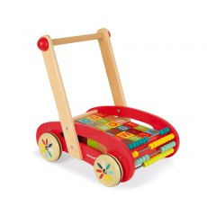 Janod Tatoo ABC Buggy Cart 30 Blocks (Wood)