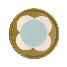 Orla Kiely Large Spot Flower Round Tray - Duck Egg