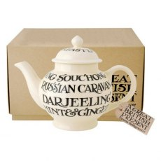 Emma Bridgewater Black Toast All Over 4 Cup Teapot