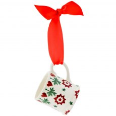 Emma Bridgewater Joy Star Tiny Mug Tree Decoration