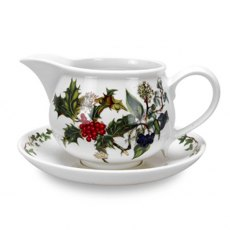The Holly & The Ivy Gravy Boat and Stand