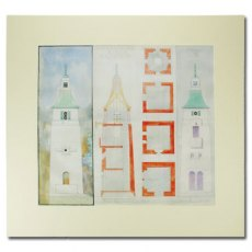 Observatory Tower Print, Portmeirion: Mounted Architectural Design by Clough Williams-Ellis