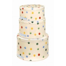 Emma Bridgewater Round Polka Dot  Cake Tins Set of 3