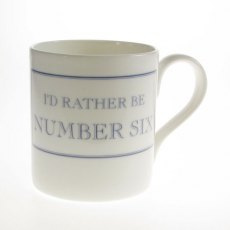 The Prisoner Fine Bone China Mug: I'd Rather Be Number Six