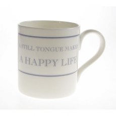 The Prisoner Fine Bone China Mug: A Still Tongue Makes a Happy Life